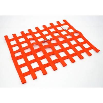 Safety & Seats - Nets and Harnesses - Racequip - RaceQuip 725045 Orange Ribbon Window Net Car Drag Street Dirt Racing SFI Rated