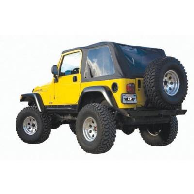 Rampage Products - Rampage 109535 Frameless Bowless Soft Top Black Diamond 97-06 Jeep TJ Wrangler