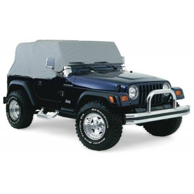 Rampage Products - Rampage 1161 Gray Waterproof Cab Cover 1992-2006 Jeep YJ TJ Wrangler