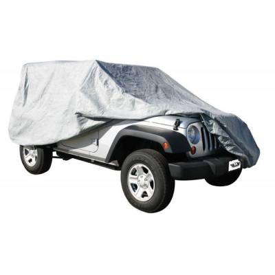 Rampage Products - Rampage 1203 Gray 4 Layer Car Cover 2007-2018 Jeep JK Wrangler 2 Door