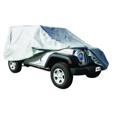 Rampage Products - Rampage 1204 Gray 4 Layer Car Cover 2007-2018 Jeep JK Wrangler Unlimited 4 Door