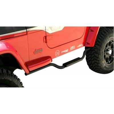 Rampage Products - Rampage 26625 Black Textured Step Bar 2 Inch 1997-2006 Jeep TJ Wrangler