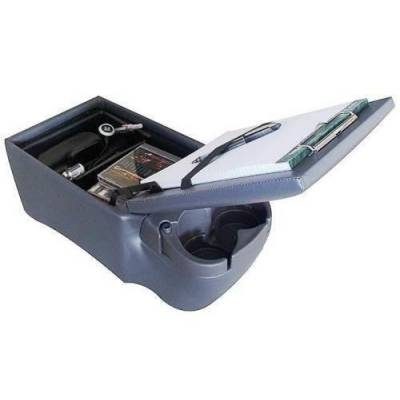 Rampage Products - Rampage 39423 Universal Truck Bench Seat Contractors Center Console Charcoal