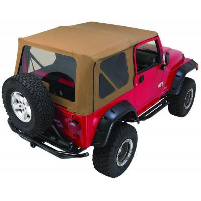Rampage Products - Rampage 68835 Complete Black Soft Top & Tint 97-06 Jeep Wrangler w/Full Doors