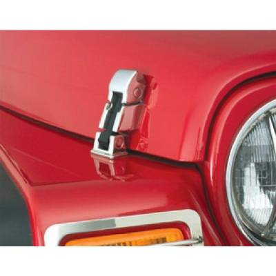 Rampage Products - Rampage 74333 Hood Catch Cast Stainless Steel 1987-1995 Jeep YJ Wrangler