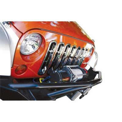 Rampage Products - Rampage 7511 Chrome Snap-In Grille Inserts 1997-2006 Jeep TJ Wrangler