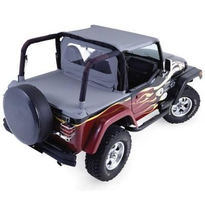 Rampage Products - Rampage 768915 Denim Black Roll Bar Padding Full Kit 1992-1995 Jeep YJ Wrangler