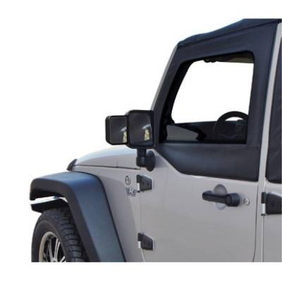 Rampage Products - Rampage 8605 Towing Mirror Extension Black Factory Finish 2007-2018 JK Wrangler