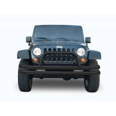 Rampage Products - Rampage 8620 Front Black Tube Bumper w/ Hoop 76-06 Jeep CJ  Wrangler & Unlimited