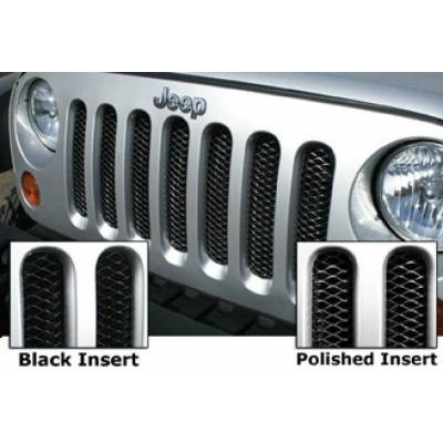 Rampage Products - Rampage 86512 Grille 3D Single Piece Gloss Black 07-18 JK Wrangler 2 Dr & 4 Dr