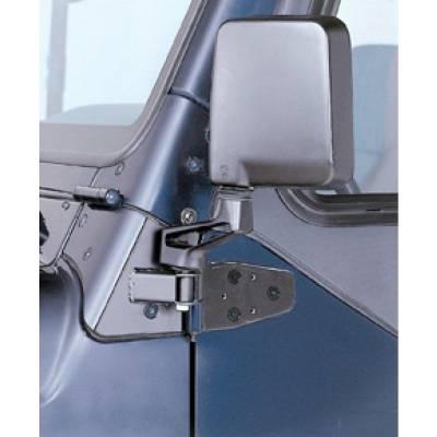 Rampage Products - Rampage 8685 Black Mirror Relocation Brackets 1987-1995 Jeep YJ Wrangler