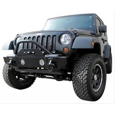 Jeep Accessories - Rampage Products - 'Rampage 88509 Front ''Stubby'' Recovery Bumper w/ Stinger 07-18 JK Wrangler'