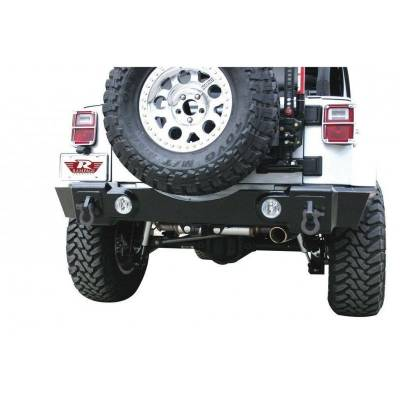 Rampage Products - Rampage 88605 Rear Recovery Bumper w/ Receiver Textured Black 07-18 JK Wrangler