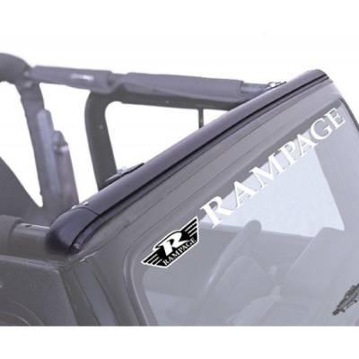 Rampage Products - Rampage 901004 Windshield Channel Header Black 1997-2006 Jeep TJ Wrangler