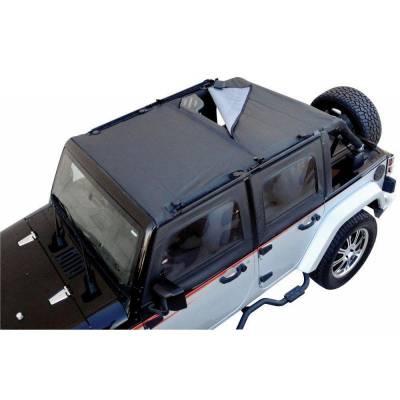 Rampage Products - Rampage 94301 Combo Sun Brief/Safari Top Black Mesh 1997-2006 Jeep TJ Wrangler