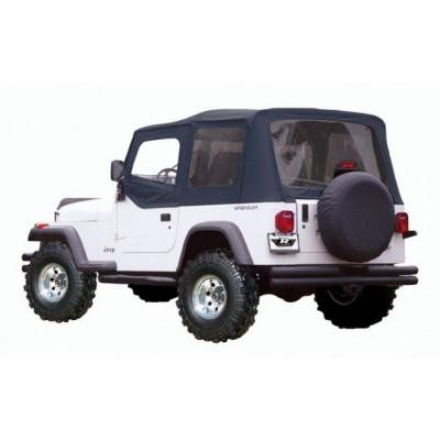 Rampage Products - Rampage 99415 Replacement Black Soft Top w/ Door Skins 88-95 Jeep YJ Wrangler
