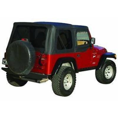 Rampage Products - Rampage 99735 Replacement Black Soft Top w/ Door Skins 97-06 Jeep TJ Wrangler