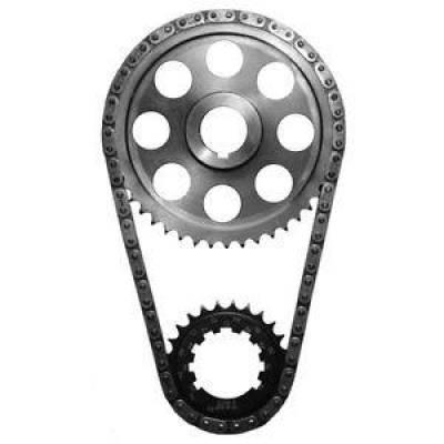 Valvetrain & Camshaft Components - Timing Chain Sets - SA Gear - Dynagear - SA GEAR 78503-9 Billet Roller Timing Set 273 318 340 360 Dodge 9 Pos Keyway