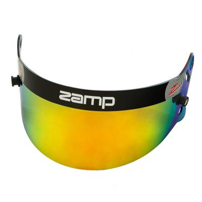 Safety & Seats - Helmet Shields & Accessories - Zamp - ZAMP HASZ20GP Z-20 Series Gold Prizm Chrome Shield (Snell SA Only) Z-Sports