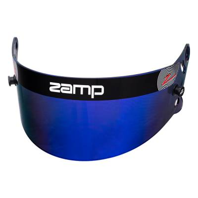 Safety & Seats - Helmet Shields & Accessories - Zamp - ZAMP HASZ20BP Z-20 Series Blue Prizm Chrome Shield (Snell SA Only) Z-Sports