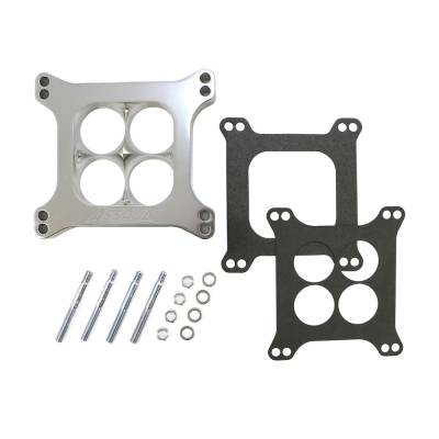 """Carburetor Spacers, Studs & Gaskets - Carb Adapters & Spacers - Assault Racing Products - 1"""" 4 Hole Billet Aluminum 4150 Holley Polished CNC Machined Carburator Spacer"""