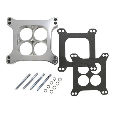 """Carburetor Spacers, Studs & Gaskets - Carb Adapters & Spacers - Assault Racing Products - 1.5"""" 4 Hole Billet Aluminum 4150 Holley Polished CNC Machined Carburator Spacer"""