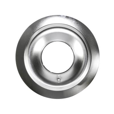 """Assault Racing Products - 14"""" Round Chrome Steel Air Cleaner Base 5-1/8"""" Neck- Flat Base SBC SBF SBM"""