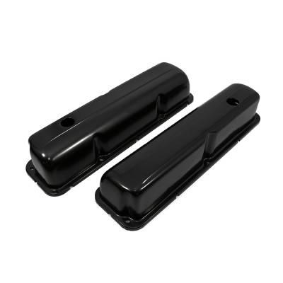 Valve Covers & Accessories - Street Valve Covers  - Assault Racing Products - 1957-1976 Ford FE Black Plated Valve Covers - 352 390 406 427 428 Big Block