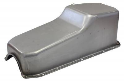 Oil Pans - Street Oil Pans - Assault Racing Products - 1958-79 SBC Chevy Raw Unplated Oil Pan - Stock Capacity 327 350 400 Small Block