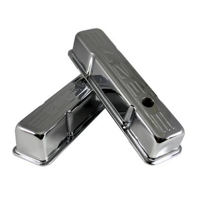 Assault Racing Products - 1958-86 SBC Chevy Chrome 327 Logo Tall Valve Covers - Small Block 283 327 350