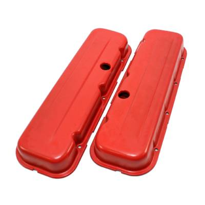 "Valve Covers & Accessories - Street Valve Covers  - Assault Racing Products - 1965-1995 BBC Orange 396 427 454 Short 2-5/8"" Steel Valve Cover Chevy Big Block"