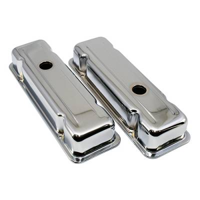 Oil Pans - Street Oil Pans - Assault Racing Products - 1980-1984 Chevy 229ci V6 Chrome Steel Valve Covers GM Malibu Monte Carlo Camaro