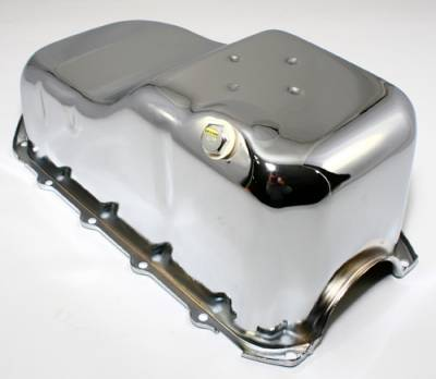 Oil Pans - Street Oil Pans - Assault Racing Products - 1982-1989 Chevy Camaro S10 2wd Truck 2.8L V6 Chrome Oil Pan 1-Piece Rear Main