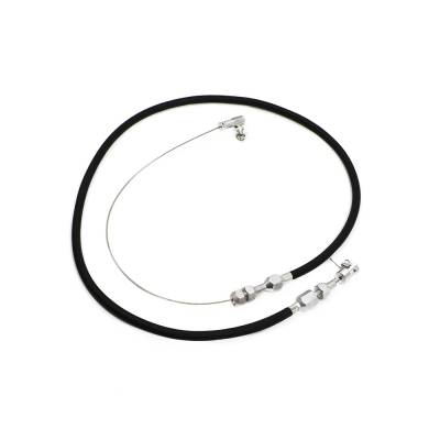 "Carburetors & Components - Throttle Cables, Pedals & Brackets - Assault Racing Products - 36"" Universal Throttle Cable Wire Assembly Black Braided Steel Cut-To-Fit"