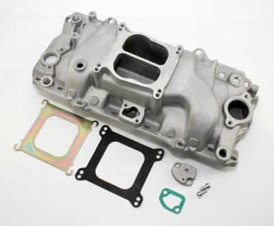 Intake Manifolds - Carbureted Intake Manifolds - Assault Racing Products - 454 Low Rise Intake Manifold Big Block Chevy BBC BB Oval Port Aluminum Intake