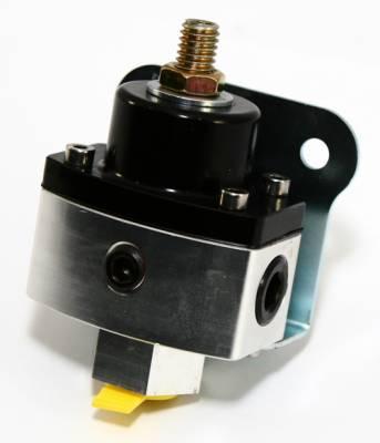 """Fuel System & Components - Fuel Pressure Regulators - Assault Racing Products - 5-12 PSI Adjustable Fuel Pressure Regulator Black Anodized Aluminum 3/8"""" NPT Pts"""