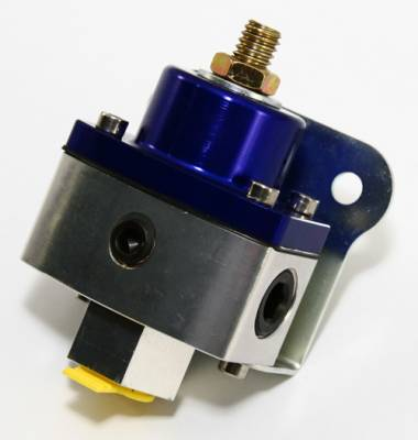 "Assault Racing Products - 5-12 PSI Adjustable Fuel Pressure Regulator Blue Anodized Aluminum 3/8"" NPT Port - Image 3"