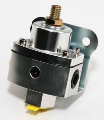 """Fuel System & Components - Fuel Pressure Regulators - Assault Racing Products - 5-12 PSI Adjustable Fuel Pressure Regulator Clear Anodized Aluminum 3/8"""" NPT Pts"""
