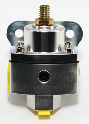 "Assault Racing Products - 5-12 PSI Adjustable Fuel Pressure Regulator Clear Anodized Aluminum 3/8"" NPT Pts - Image 2"