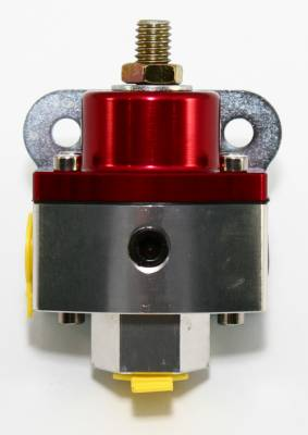 "Fuel System & Components - Fuel Pressure Regulators - Assault Racing Products - 5-12 PSI Adjustable Fuel Pressure Regulator Red Anodized Aluminum 3/8"" NPT Ports"