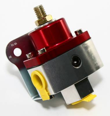 "Assault Racing Products - 5-12 PSI Adjustable Fuel Pressure Regulator Red Anodized Aluminum 3/8"" NPT Ports - Image 3"