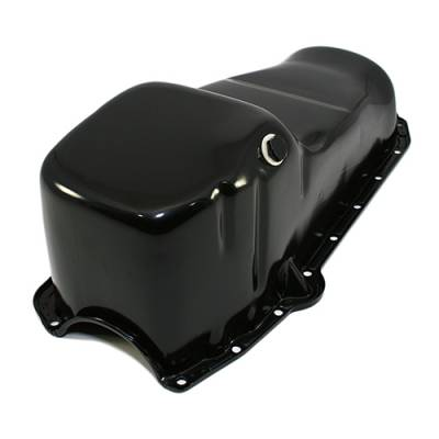 Oil Pans - Street Oil Pans - Assault Racing Products - 58-79 SBC Chevy Black Oil Pan - Stock Capacity 283 305 327 350 400 Small Block
