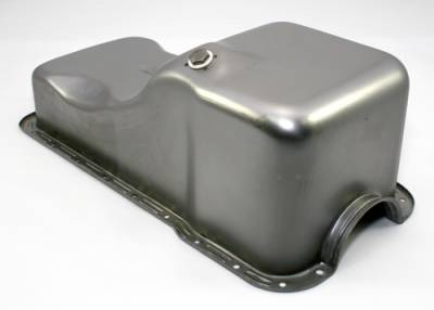 Oil Pans - Street Oil Pans - Assault Racing Products - 63-96 SBF Ford 302 Front Sump Raw Steel Oil Pan - Small Block 260 289 5.0