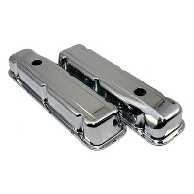 Valve Covers & Accessories - Street Valve Covers  - Assault Racing Products - 68-81 Buick 350 Chrome Valve Covers - Stock Height V8