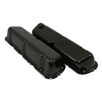 Valve Covers & Accessories - Street Valve Covers  - Assault Racing Products - 86-95 Ford 5.0 Mustang Black Steel Valve Covers Factory Style - 5.0L 302
