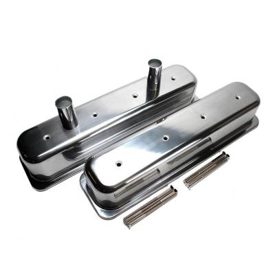Valve Covers & Accessories - Street Valve Covers  - Assault Racing Products - 87-97 SBC Chevy Center Bolt Aluminum Circle Track Valve Covers - 5.0 5.7 305 350
