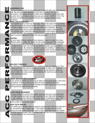 """ACC Performance - ACC 46011 TH400 12"""" 1600- 2200 Stall Torque Converter Turbo 400 Chevy BOP TH400 - Image 3"""