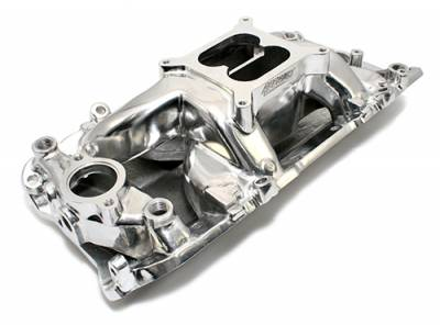 Intake Manifolds - Carbureted Intake Manifolds - Assault Racing Products - BBC Big Block 396 402 454 Polished AirGap Aluminum Intake Manifold Dual Plane