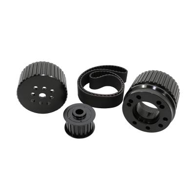 Cooling - Pulleys, Belts & Kits - Assault Racing Products - BBC Big Block Chevy Billet Black Aluminum Gilmer Belt Drive Pulley Kit 396 454