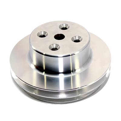 Cooling - Pulleys, Belts & Kits - Assault Racing Products - BBC CHEVY 2 V Aluminum Water Pump Pulley Long 396 454